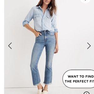 Madewell Cali Demi-Boot Jeans 26 Petite